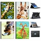 African Giraffe Folio Cover Leather Case For Apple iPad Tablet