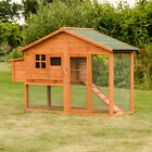 MALAGA LARGE CHICKEN COOP WITH RUN AND NEST BOX HEN DUCK OR RABBIT HOUSE HUTCH