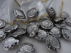 18mm 20 / 50grams  SILVER COLOR ACRYLIC GRAPHICS FACETED BEADS AB02219