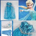UK SELLER - New Style Elsa Anna Dress Deluxe Range costume party dress 3-8Years