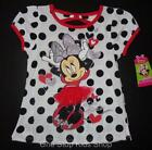 MINNIE MOUSE Toddler Girls 2T 3T 4T 5T Short Sleeve Tee SHIRT Top Disney