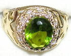 Men's 7ctw Peridot & Topaz Ring August Birthstone 31513