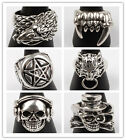 Mens 316L Stainless Steel US Size 10,11 Ring Jewelry In 6 Styles