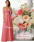 BNWT ANNA Coral Lace Chiffon Maxi Bridesmaid Ballgown Dress Sizes UK 6 -18