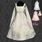 Wedding Flower Girls Pageant Formal Dresses w/ Shawl Party Size 2T-14 FG018S