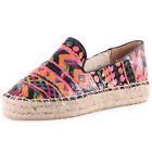 Dolcis Sicily Womens Synthetic Black Multicolour Espadrilles New Shoes All Sizes