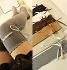 Colorful Women Over Knee Thigh High Stocking Long Knitted Boot Socks Cotton