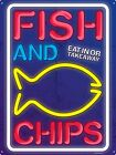 Fish & Chips Tin Sign 30.5x40.7cm