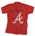 MLB Baseball Youth Boys Atlanta Braves Short Sleeve T-Shirt - Red