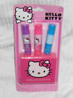 Hello Kitty lip balm set 4pc Flavored LIP balm Girls 4 PIECE PARTY PACK Party