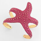 Sea Ocean Life Starfish Sun Star Open Chunky Cuff Bangle Bracelet Beach Summer