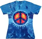 Sublimation Short Sleeve T-Shirt Blue Peace Sign Kylie Women S - 2XL Polyester
