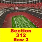 2 TIX 11/29 Atlanta Falcons v Minnesota Vikings Sect-312 Row 3