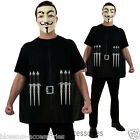 CL394 V for Vendetta Mens Costume Shirt + Mask Fancy Dress Up Halloween Party