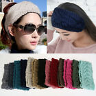 Flower Crochet Knit Knitted Headwrap Headband Ear Warmer Hair Muffs Band Winter