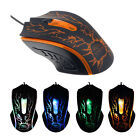 New 4 Buttons LED Optical 2000 DPI Wired Mouse Mice For PC Laptop Game GFY