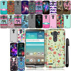 For LG G3 D850 D851 LS990 VS985 Cute Design TPU SILICONE Rubber Case Cover + Pen