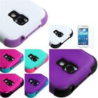 TUFF Hybrid Hard Case Phone Stand Cover For Samsung Galaxy S4 mini+LCD Shield