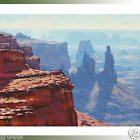 CANYON PAINTING DESERT Landscape Painting Southwestern by listed Artist Gercken