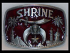 SHRINERS RED NEW WESTERN MENS LADIES BELT BUCKLE FOR BELTS