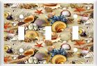 COLORFUL SEASHELLS ON THE BEACH  LIGHT SWITCH COVER PLATE  U PICK PLATE SIZE