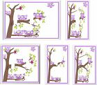 PURPLE OWLS IN TREE LIGHT SWITCH COVER PLATE   U PICK PLATE SIZE
