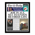 Personalised Retirement Newspaper with Photo Retirement Gift Present Idea - New