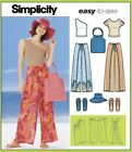 Sew & Make Simplicity 5508 SEWING PATTERN - PANTS TOPS FLIP FLOPS HATS TOTE BAGS