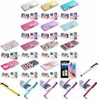 For Samsung Galaxy S6 Diamond Bling Belt Flip PU Leather Case Pouch+Stylus+Film