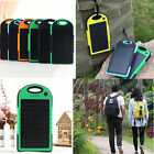 12000mAh Dual-USB Waterproof Solar Power Bank Battery Charger for Cell Phone New