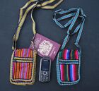 Fair Trade Passport Camera Phone Purse Bhutan pattern Small Shoulder bag Tibetan