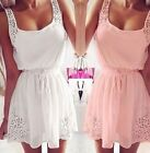 Sexy Summer Women Chiffon Casual Dresses Sleeveless Cocktail Short Mini Dress