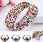Fashion Jewelry Women Beads Chain Bangle Cuff Oval Butterfly Bracelet Charm Gift