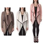 Hidden Fashion Womens Ladies Waterfall Summer Jacket With Faux-Leather Trimming