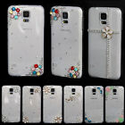 New Clear Crystal Diamond Back Case Cover For  Samsung galaxy  S3 4 5 Note 2 3