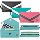Wallet Purse Bag Wrist Strap Clutch Card Cash Case Cover for LG G4