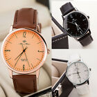 Men's Watches Luxury Leather Band Unisex Fashion Women Quartz Wristwatch Casual