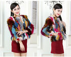 Factory Price Russia Farm Raccoon Fur Mini Coat Overcoat 3/4 Sleeve Tops Jackets