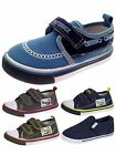 Kids Boys Canvas Pumps Toddlers Beach Summer Shoes Velcro Trainers Size UK 4-12
