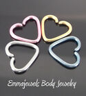 16g 10mm Heart Your Choice Titanium Tragus Cartilage Daith Orbital Piercing Ring