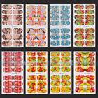 New Floral DIY Manicure Tips Acrylic Full Wraps Decal Sticker Nail Art Design