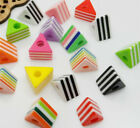 50/250PCS Mixed Acrylic Charm Stereoscopic Spacer Beads For Jewelry 8x11mm