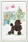 Standard Poodle Birthday Card Embroidered by Dogmania