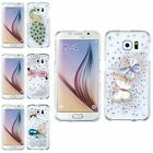 For Samsung Galaxy S6 Crystal TPU Rubber 3D Bling Diamante Case Skin Cover