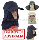 1 SUN NECK BACK EAR FLAP CAP LEGION LEGIONNAIRE SUN HAT ADJUSTABLE SIZE COTTON