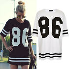 new womens Sexy street fashion casual loose summer hip hop short sleeve T shirt