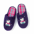 Avon Ava Teddy Bear Purple Slip on Mule Slippers Sizes: 5/6 GRAB A BARGAIN!