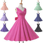 50s Rockabilly Dress Vintage Swing Housewife Pin Up TEA Party Full Circle Dress