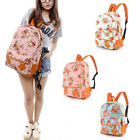Girl Women Canvas Flower Rucksack Backpack School College Travel Bag M1663