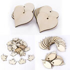 25x Wooden Leaves/Heart Shapes Embellishments Hanging Craft